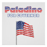 Paladino for Governor Patriotic American Flag Posters
