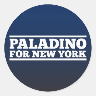 Paladino para Nueva York Pegatina Redonda