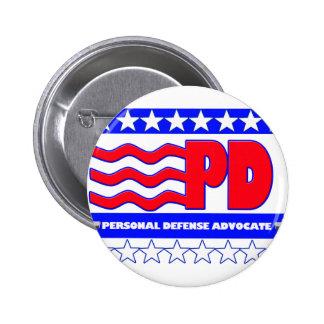 PALADIO (ABOGADO PERSONAL DE LA DEFENSA PIN REDONDO DE 2 PULGADAS