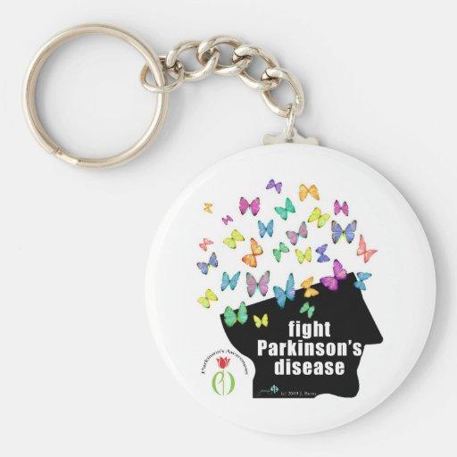 paladio de la lucha - conciencia de Parkinson de l Llaveros Personalizados