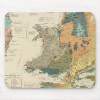 Palaeontological map British Islands Mouse Pad