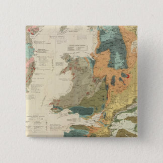 Palaeontological map British Islands Pinback Button