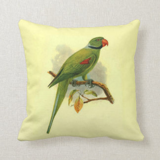 Palaeornis Wardi Throw Pillow (Square)