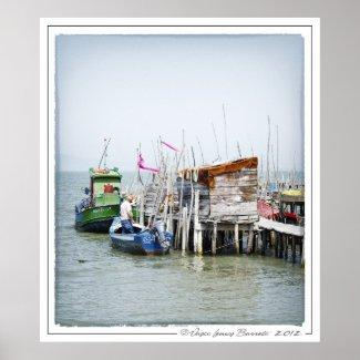 Palafitic Pier 001 Print