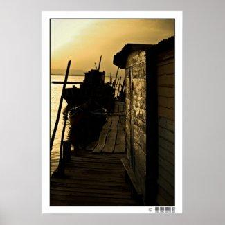 Palafitic Pier 003 Print
