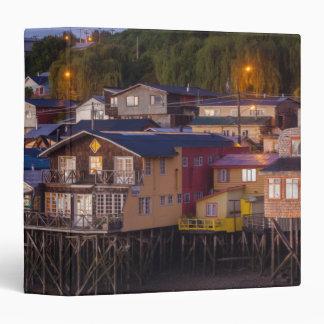 Palafito stilt houses, elevated view binder