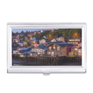 Palafito stilt houses, elevated view business card case