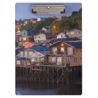 Palafito stilt houses, elevated view clipboard