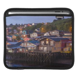 Palafito stilt houses, elevated view iPad sleeve