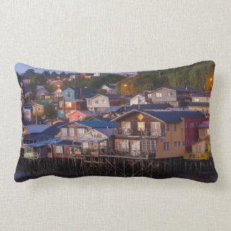 Palafito stilt houses, elevated view lumbar pillow