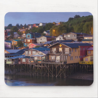 Palafito stilt houses, elevated view mouse pad