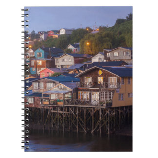 Palafito stilt houses, elevated view spiral notebook