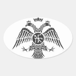Palaiologos Eagle Calcomanías De Ovales Personalizadas