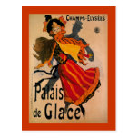 Palais De Glace, anuncio 1896 de Nouveau del arte Tarjetas Postales