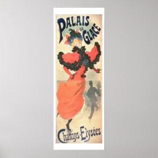 Palais de Glace, campeones Elysees, París, 1894 (c Póster