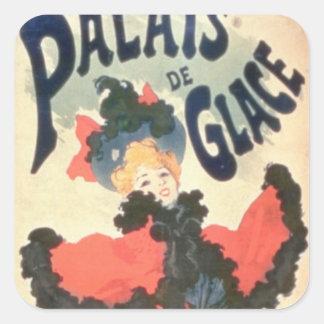 Palais de Glace, campeones Elysees, París, 1894 Calcomanías Cuadradas