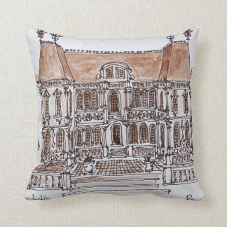 Palais de Justice Courthouse | Rennes, Brittany Throw Pillow