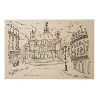 Palais Garnier Opera House | Paris, France Wood Wall Art