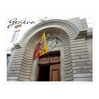 palais justice geneva postcard