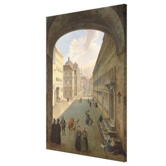Palais Lodron, Salzburg, 1833 Canvas Print