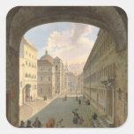 Palais Lodron, Salzburg, 1833 Pegatina Cuadrada
