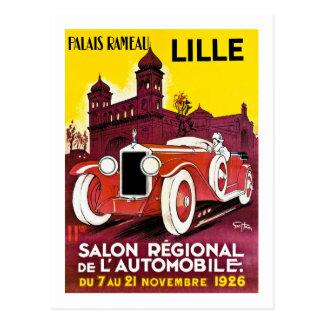 Palais Rameau - Lille - anuncio del automóvil - Postal