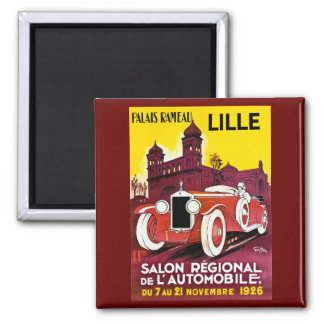 Palais Rameau - Lille - Automobile Ad - 1926 2 Inch Square Magnet