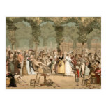 Palais Royal French Aristocrats Garden 1700s Postcard