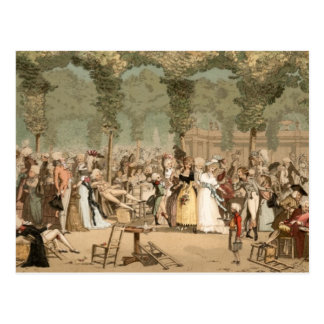 Palais Royal French Aristocrats Garden 1700s Postcard