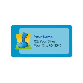 Palanca de mando azul etiqueta de dirección