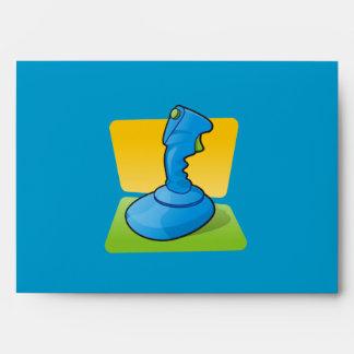Palanca de mando azul sobre