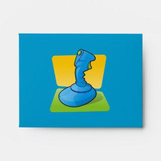Palanca de mando azul sobres