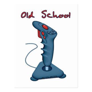 Palanca de mando de la escuela vieja postales