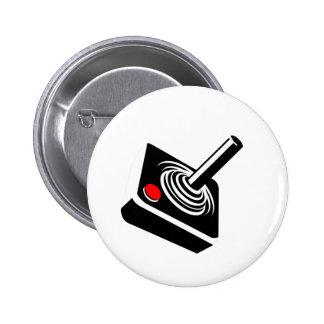 Palanca de mando retra del videojuego pin