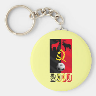 Palancas Negras Angola 2010 soccer football gifts Basic Round Button Keychain
