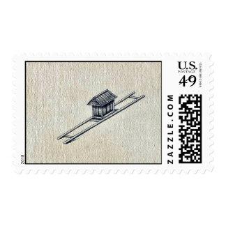 Palanquin o litera Ukiyo-e. Timbres Postales