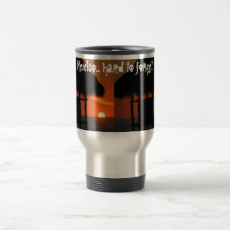 Palapa at Sunset; Mexico Souvenir 15 Oz Stainless Steel Travel Mug