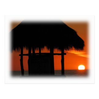 Palapa at Sunset Postcard