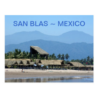 Palapas at San Blas Beach Postcard