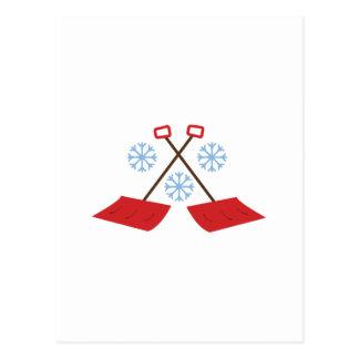 Palas del copo de nieve postal