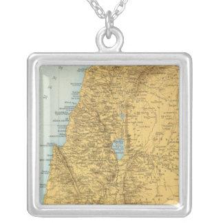 Palastina - mapa del atlas de Palestina Colgante Cuadrado
