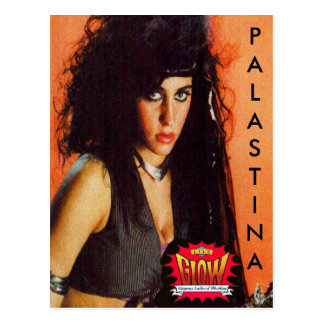 palastina Postcard GLOW wrestling