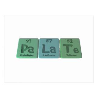 Palate-Pa-La-Te-Protactinium-Lanthanum-Tellurium.p Postcard
