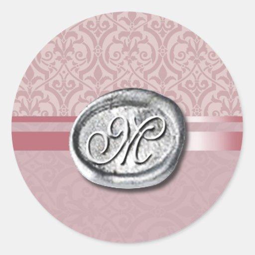 Palatial - Initial (Mauve) Sticker