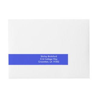 Palatinate Blue Basic Solid Color Wrap Around Address Label