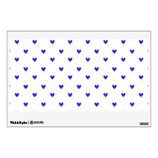 Palatinate Blue Glitter Hearts Pattern Wall Decal