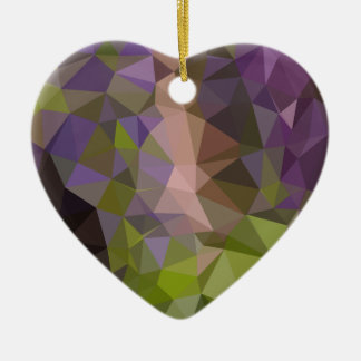 Palatinate Purple Abstract Low Polygon Background Ceramic Ornament