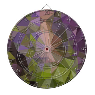 Palatinate Purple Abstract Low Polygon Background Dartboard