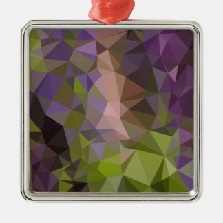 Palatinate Purple Abstract Low Polygon Background Metal Ornament