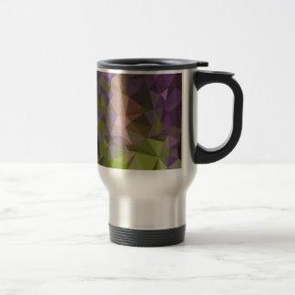 Palatinate Purple Abstract Low Polygon Background Travel Mug